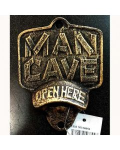 Texas Decor - Cast Iron Man Cave Bottle Opener 56644
