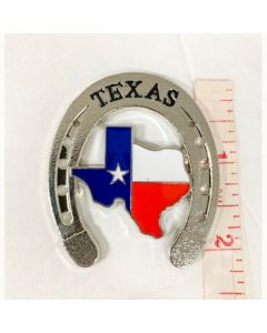 Texas Decor - Texas Horseshoe Metal Magnet CM-007