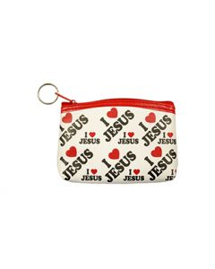 Coin Purse - I LOVE JESUS 79316 SOLD BY THE DOZEN