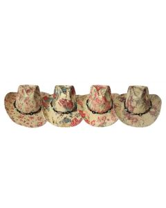 Straw Hat Assorted Print 3695