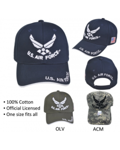 United States Air Force Hat - U.S. Air Force Wings A04AIA03-NVY/WHT