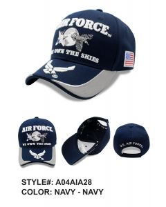 United States Air Force Hat -  ''OWN THE SKIES'' A04AIA28-NAV/NAV