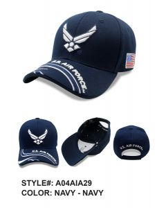 United States Air Force Hat - Wings ''U.S AIR FORCE'' On Bill A04AIA29-NAV