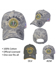 United States Army Seal Hat A04ARM06-ACM/BLK - Digi Camo