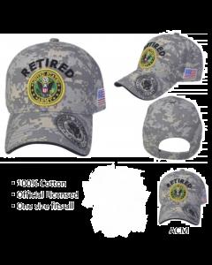 United States Army RETIRED Hat w/Army Seal-A04ARR02YS-ACM