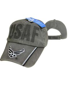 United States Air Force Hat Washed Cotton ''USAF'' BackStitch Logo Bill CAP597CMG