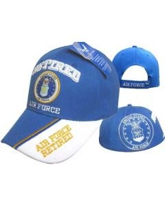 "United States Air Force Hat ""RETIRED AIR FORCE"" Seal-Royal BL CAP593"