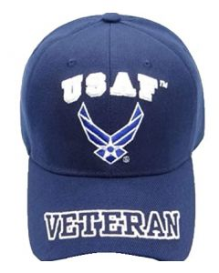 United States Air Force Hat - USAF w/Wings & ''VETERAN'' Bill CAP593EN