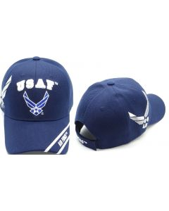 United States Air Force Hat - USAF w/Wings & Shadow CAP603TN