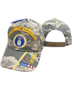 United Stated Air Force Veteran Hat w/Seal v/Flag Bill-Digi CAP593BC