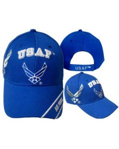 United States Air Force Hat ''USAF'' w/Wings&Shadow-RYL BL CAP603T