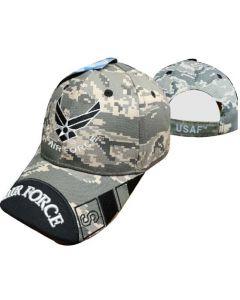 United States Air Force Hat Wings w/Black Tip Bill-Digi CAP603UC