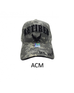 United States Air Force RETIRED Hat w/Wings Logo A04AIR01-ACM
