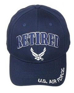 United States Air Force RETIRED Hat Wings Logo-NV A04AIR01YS-NAV