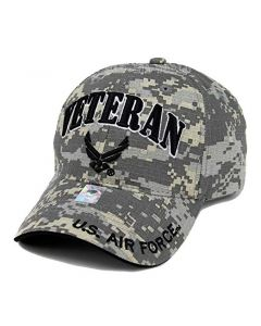 United States Air Force VETERAN Hat with Wings Logo - A04AIV01 Grey Digital Camo