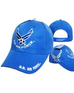 United States Air Force Hat Royal Blue Wings w/Shadow CAP603S