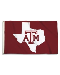 NCAA A&M Aggies State Outline Flag 3' X 5'