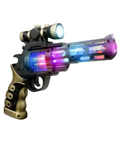 LED Light Up Spinning Gun with Scope (AK041)