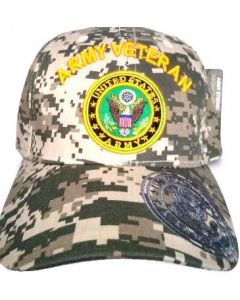 United States Army Hat- ''ARMY VETERAN'' (over) Seal-Digital