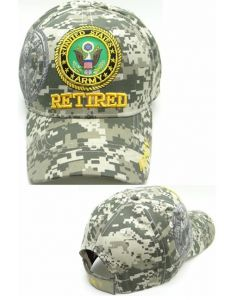United States Army Hat- Retired (under) Seal-Digital Camo
