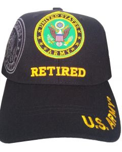 United States Army Hat- Retired (under) Seal-BK