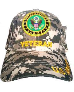 United States Army Hat- ''VETERAN'' (under) Seal-Digital Camo