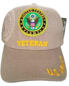 United States Army Hat- ''VETERAN'' (under) Seal-KHK
