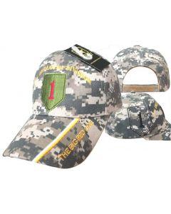 United States Army Hat 1st Infantry Division-Digi Camo CAP619C