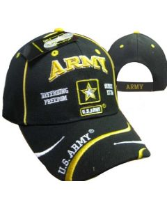 United States Army Hat Defending Freedom w/Star Logo-BK CAP595E