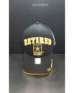 United States  Army Hat RETIRED with U.S. Army Star