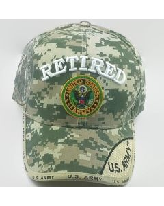 United States Army Military Hat Retired w/Seal - Digi Camo