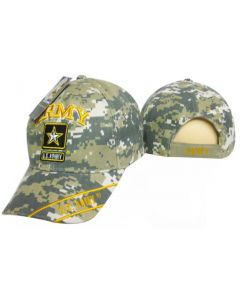 "United States Army Hat ""ARMY"" Star Logo Digi w/Gold Text CAP601TC"