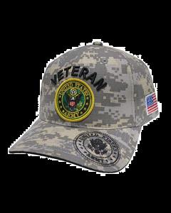 United States Army Hat Veteran w/U.S. Army Seal Digi Camo-A04ARV02-ACM/BK