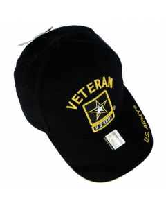 United States Army VETERAN Hat w/Star Black-A04ARV01-BK/GD