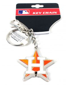 MLB Houston Astros Zamac Logo Keychain