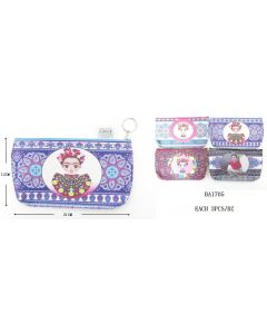Frida Make Up Bag BA-1705 SOLD BY DOZEN