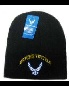 Beanie - Military - U.S. Air Force Veteran Wing Log