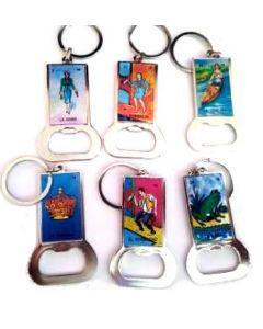 KC (Keychain) Loteria Metal Bottle Opener BKC-60105-GS SOLD BY THE DOZEN