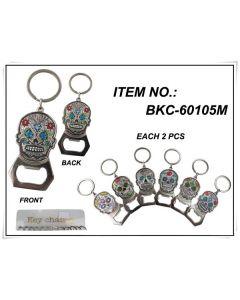 KC (Keychain) Sugar Skull BKC-60105M SOLD BY THE DOZEN
