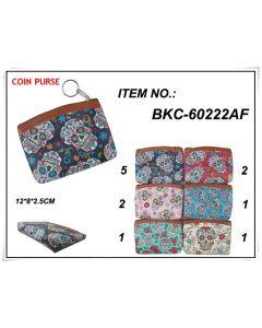 Sugar Skull Coin Purse - BKC-60222A SOLD BY THE DOZEN