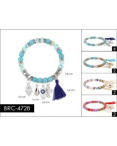 Bracelet - Charm BRC-4717 SOLD BY THE DOZEN