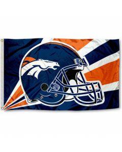 NFL Denver Broncos Flag - Helmet 3 x 5