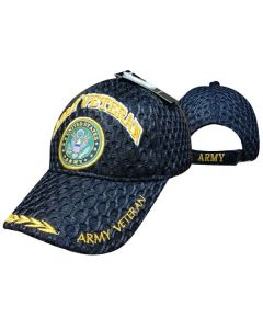 "United States Army Military Hat ""ARMY VETERAN"" Seal/Mesh/Leaf CAP591A"