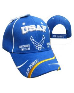United States Air Force Hat Defending Freedom w/USAF&WINGS -RYL BL CAP597E