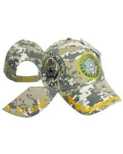 United States Army Hat  Seal w/Leaf Bill-Digi CAP601BC