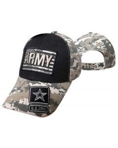 """United States Army Hat """"ARMY"""" Text ATop Flag CAP601FC"""