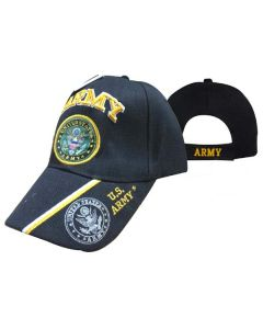 "United States Army Hat ""ARMY"" Seal/Gold Text w/Shadow Bill CAP601M"