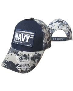 "United States Navy Hat ""NAVY"" Text ATop Flag CAP602FC"