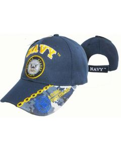 United States Navy Hat w/Seal Global Force- Nvy CAP602M