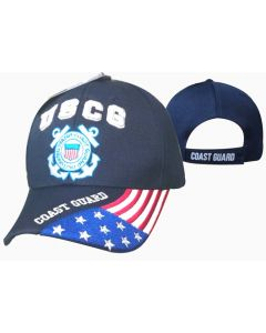 "United States Coast Guard Hat ""USCG'' Flag Bill CAP605G"